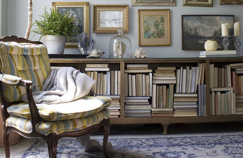 start decorating with books