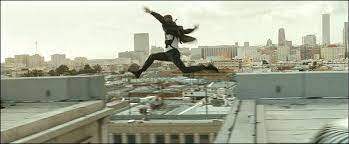 The problems of a rooftop chase scene.