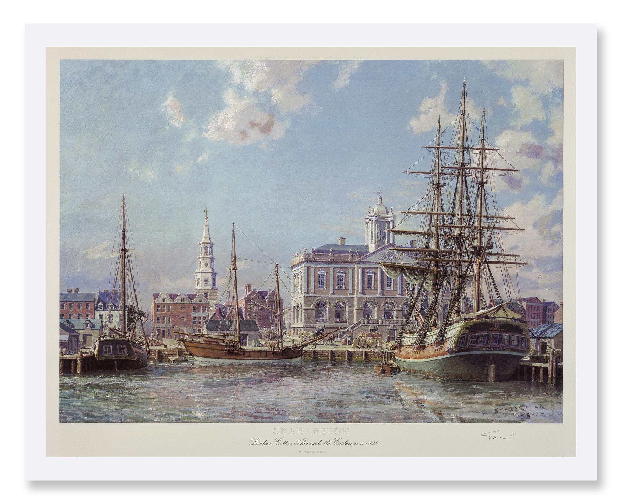 StobartPrints_Charleston_LoadingCottonAlongsideExchange_1821